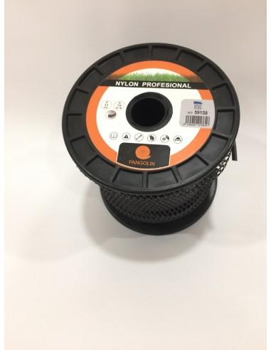 Bobina de Nylon Cuadrado Pangolín 3.3mm